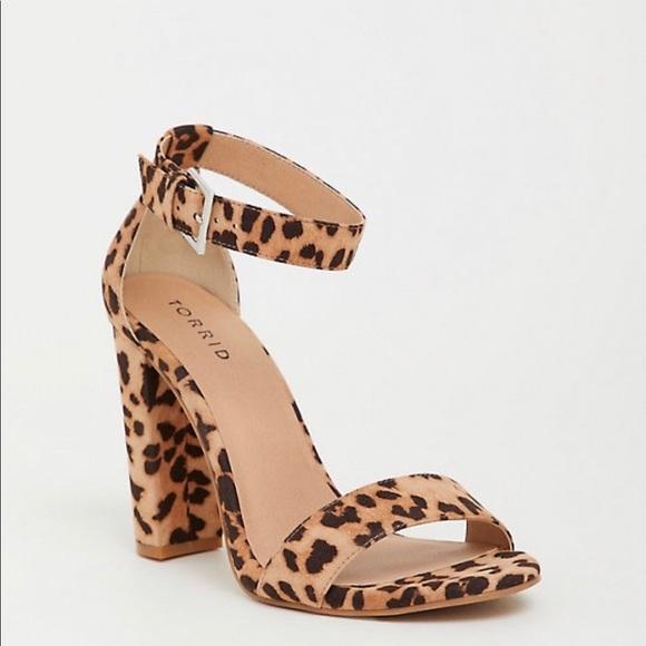 Shoes | Leopard Ankle Strap Block Heel